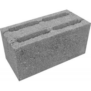 Стеновой пустотелый керамзитобетоный блок 400х400х200 мм прямой / скц
