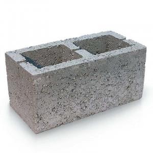Стеновой пустотелый керамзитобетоный блок 390х90х188 мм с утеплителем / прямой