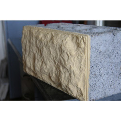 Облицовочный керамзитобетоный блок 200х200х400 мм
