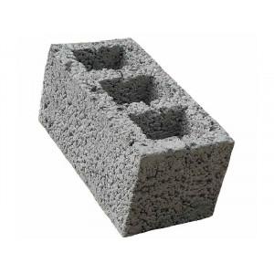 Перегородочный пустотелый керамзитобетоный блок 300х200х400 мм прямой