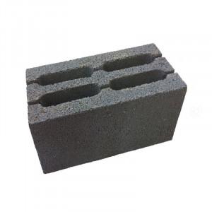 Перегородочный пустотелый керамзитобетоный блок 390х90х188 мм прямой