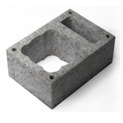 Вентеляционный керамзитобетоный блок 390х190х188 мм