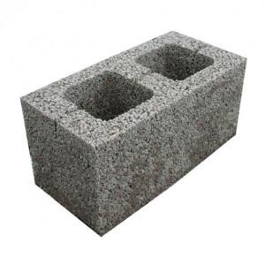 Стеновой пустотелый керамзитобетоный блок 390х190х188 мм некондиция