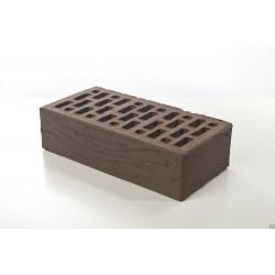 Керамический облицовочный одинарный рифленый кирпич Braer М-150 коричневого цвета