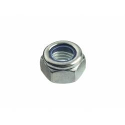 Гайка оцинкованная шестигранная со стопорным кольцом М6 Профикреп 10 шт.