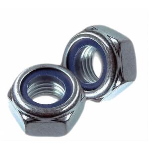 Гайка М5 с нейлоновым кольцом самостопорящаяся шестигранная КТ