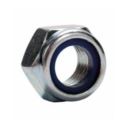 Гайка с нейлоновым кольцом низкая шестигранная А2 М8 Партнер 500 шт.