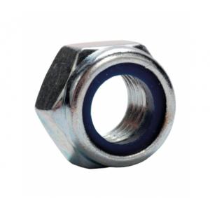 Гайка М8 с нейлоновым кольцом низкая шестигранная А2 Партнер DIN 985