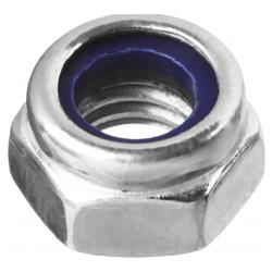 Гайка с нейлоновым кольцом оцинкованная М10 Зубр 4 шт.