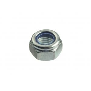 Гайка М10 оцинкованная шестигранная со стопорным кольцом Профикреп DIN 985