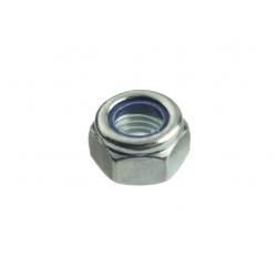 Гайка оцинкованная шестигранная со стопорным кольцом М2 Профикреп 6 шт.